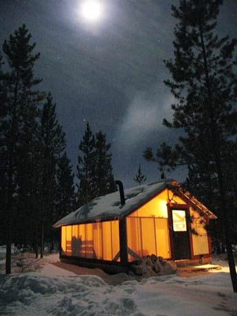 Cabin tent & Wall-tent Accommodation Option - Northern Lights Yukon | Cayenne ...
