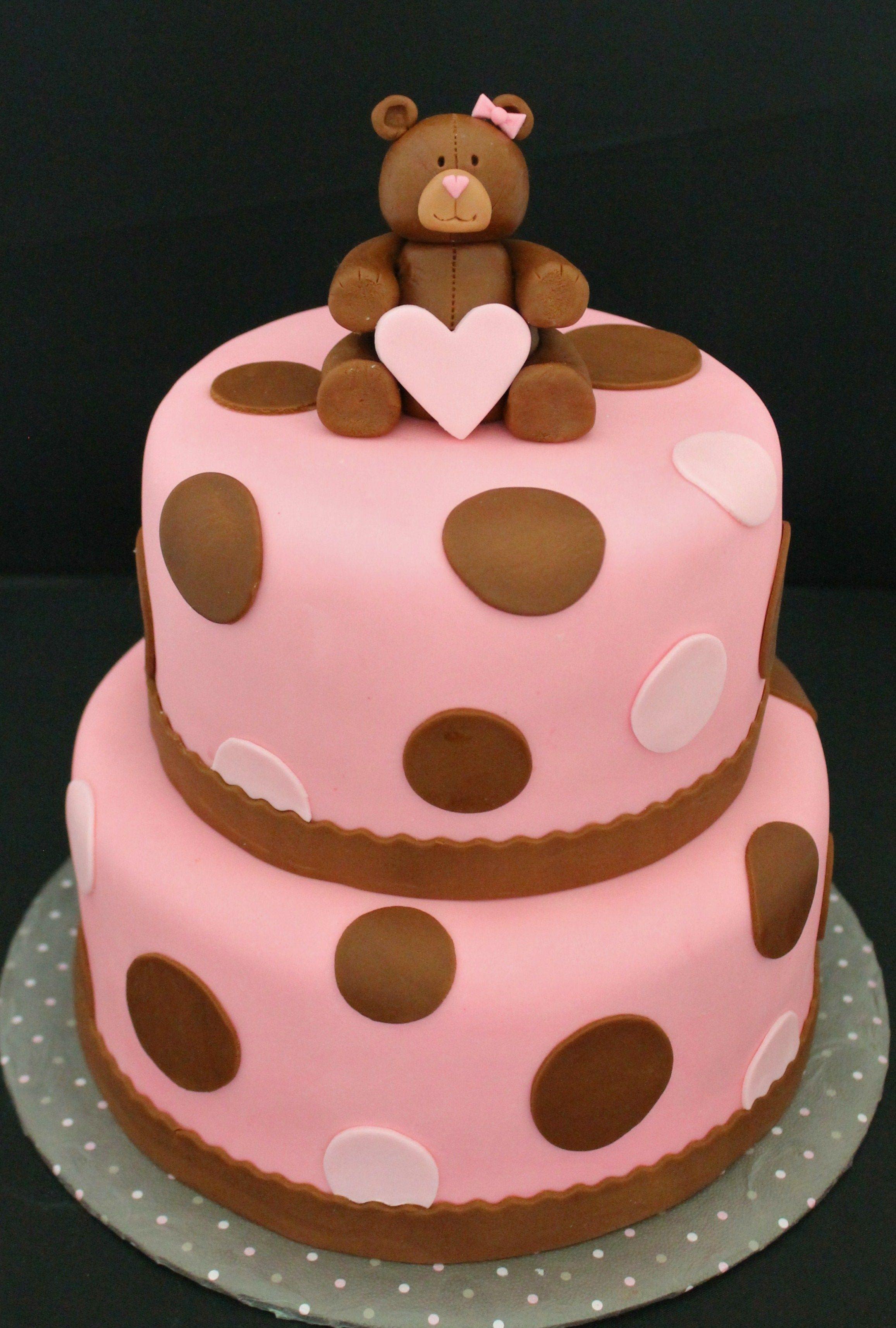 Marshmallow Fondant Covered Baby Shower Cake Custom