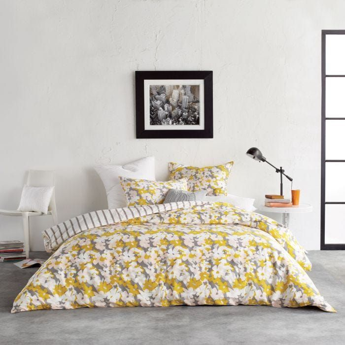 Dkny Cutout Sunshine Yellow Floral Bedding Bedeck Home Floral Bedding Vibrant Bedding Super King Duvet Covers