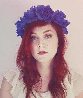 Somos como una flor 🌷Americana Blue Rose Flower Crown, Rose Headband, Lana Del Rey Headband, Summer Hair Accessory