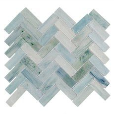 I M Obsessed With Our Backsplash Poseidon Herringbone Glass