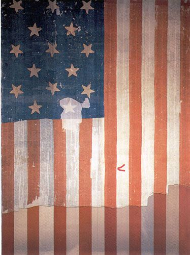 Star Spangled Banner That Flew Over Ft Mchenry At Baltimore Md In The War Of 1812 And Inspired Fran American History Museum Star Spangled Banner Smithsonian