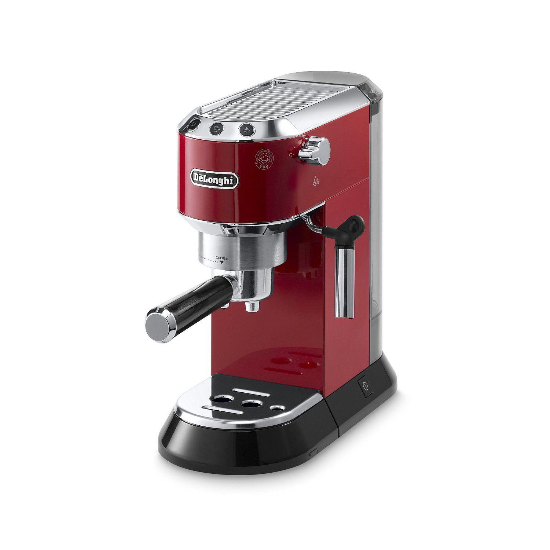 De'Longhi Dedica 15Bar Pump Espresso Machine (Red/ Silver