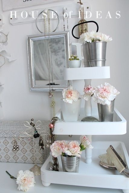 etagere shabby chic brocante vintage pinterest haus dekoration und deko. Black Bedroom Furniture Sets. Home Design Ideas
