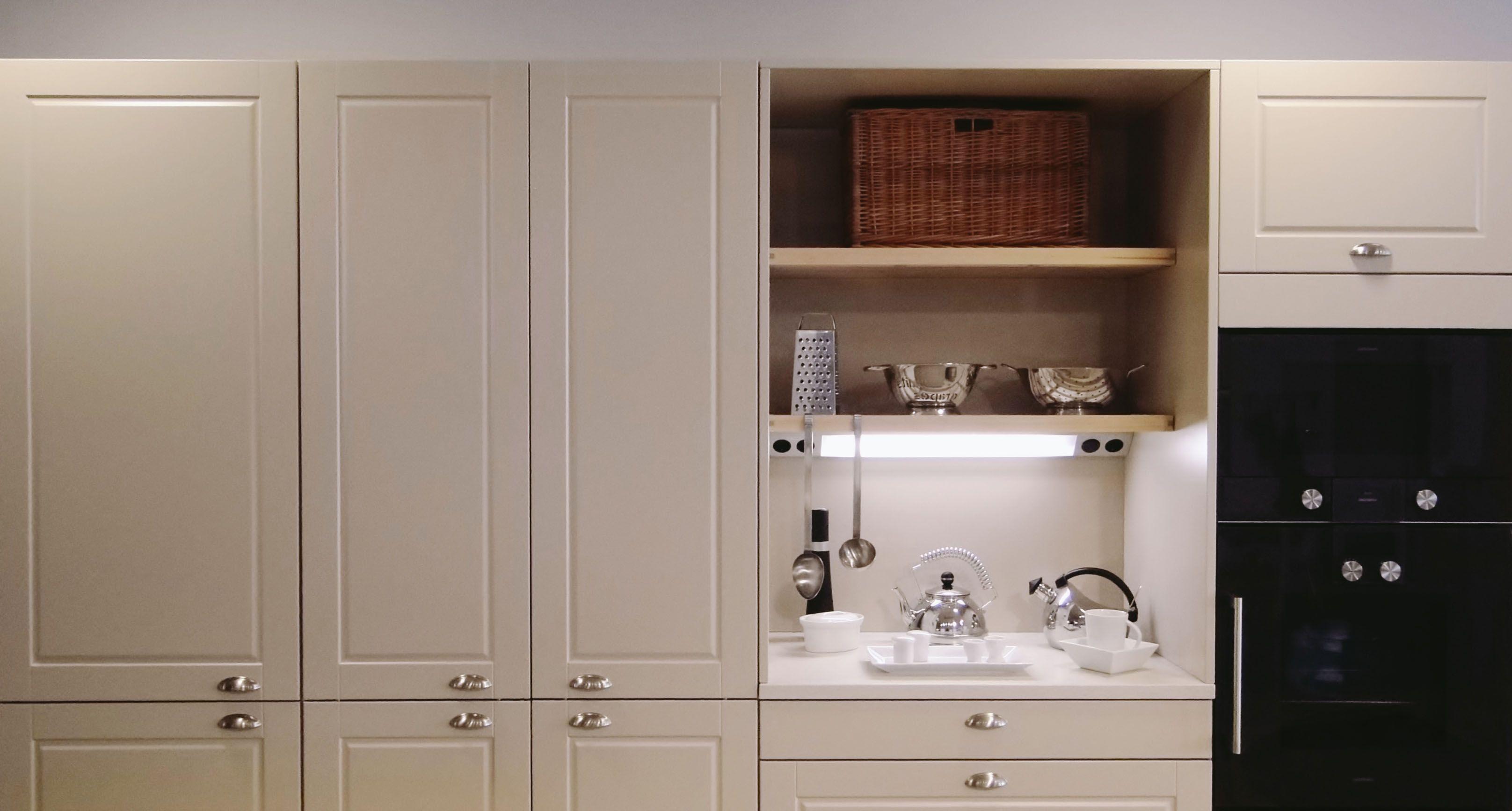 Santos kitchen epoca design in traç showroom whitekitchen