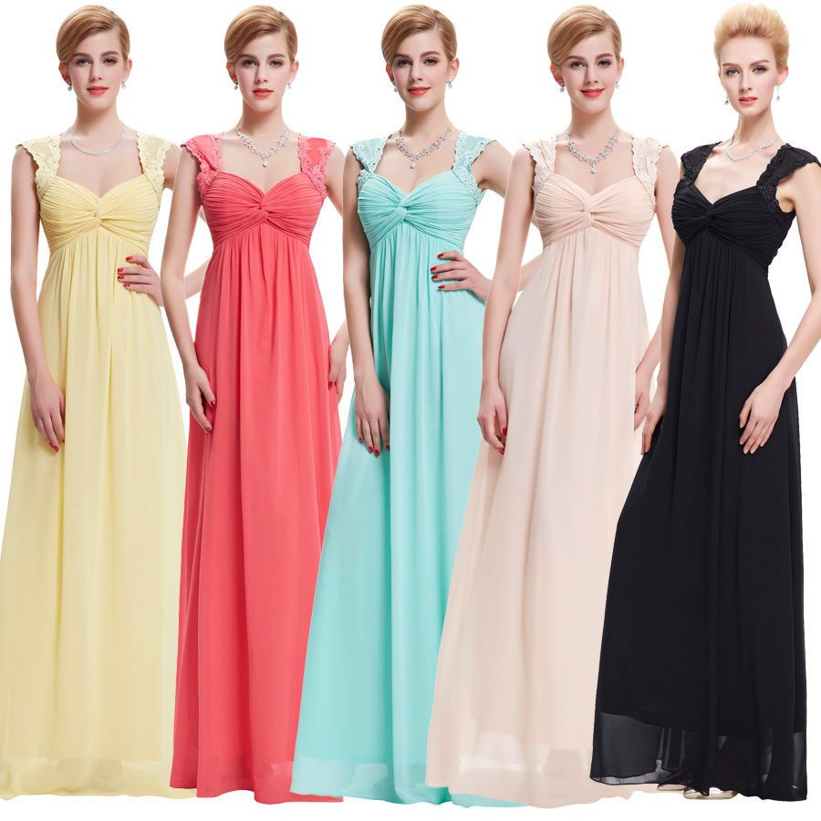 Sexy Women Chiffon Prom Long Evening Party Ball Gown Cocktail Maxi Wedding Dress #Starzz #BallGown #Cocktail