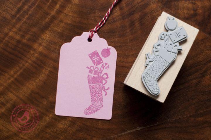 Stempel Christmas Stocking / tinytinadesigns