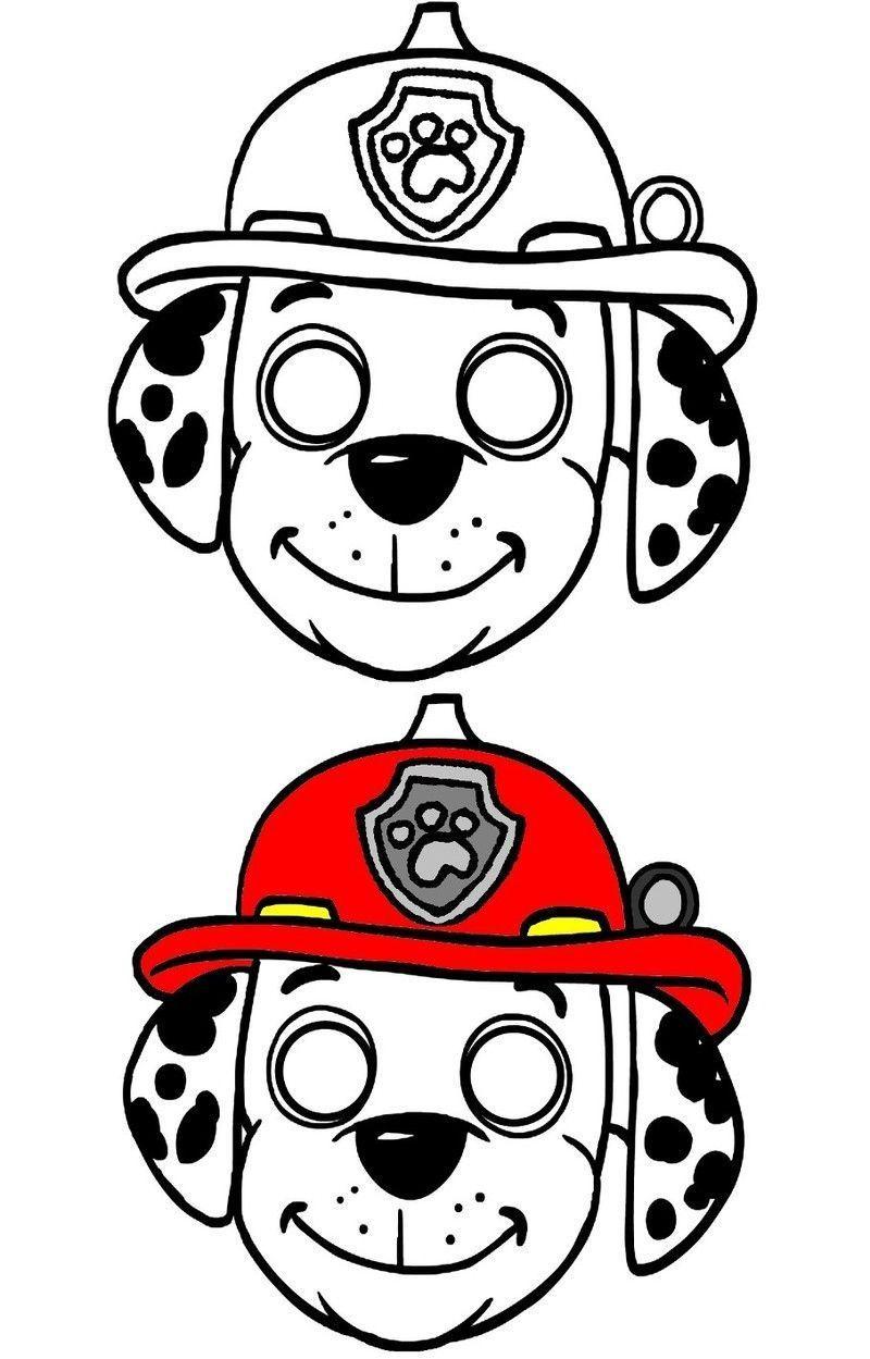 Pat Patrouille Ryder Ruben Rocky Stella Chase Masque Coloriage Pat Patrouille Masque A Imprimer Pat Patrouille