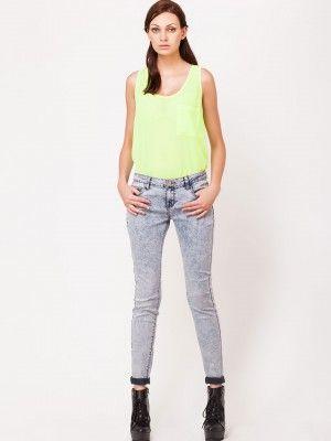 GLAMOROUS Acid Wash Skinny Jeans available on koovs.com