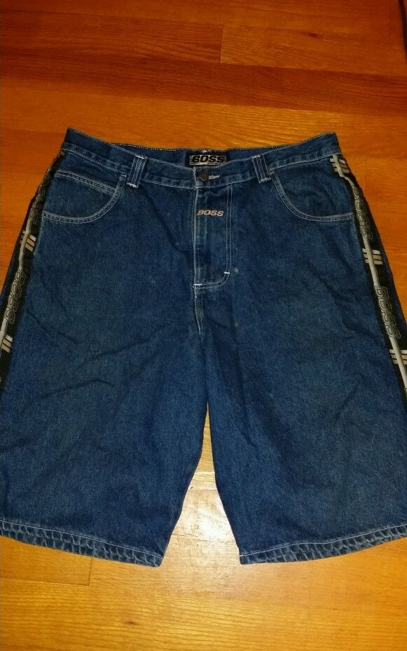 82a707192 Boss By I.G. Designs Men's Baggy Denim Shorts-Size 38 #Boss #Denim US $20.00