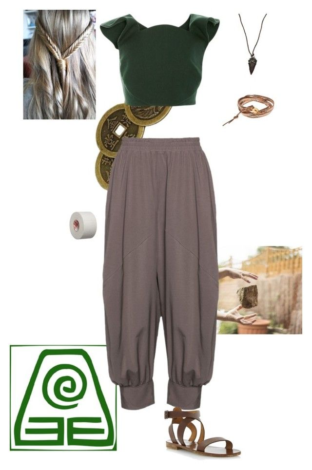 Earth Bender by gone-girl on Polyvore featuring polyvore fashion style Delpozo Isolde Roth Chan Luu Lou Zeldis clothing
