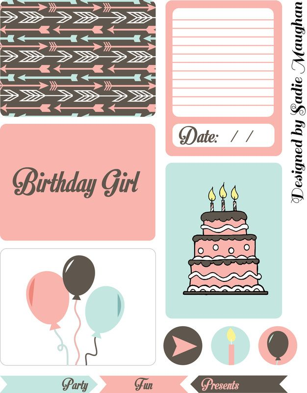 Free Birthday Girl Project Life Printables With Images Project