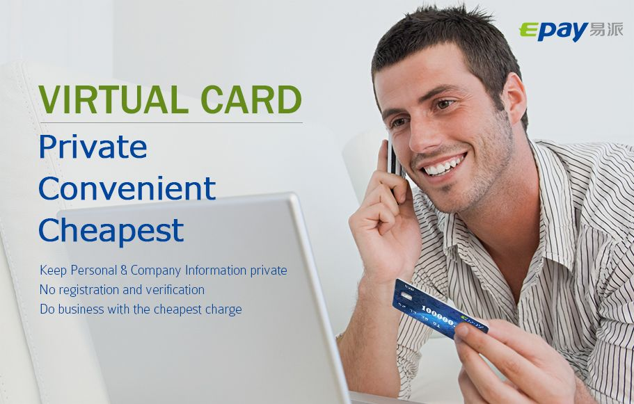 Epay.com:Virtual Card is completely anonymous account. You can create more than one Virtual Cards to anyone. Make payments or consumption by card number and ...