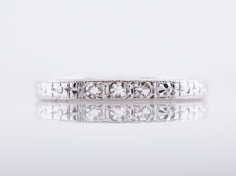 Filigree Jewelers Antique Wedding Band Art Deco Belais Brothers