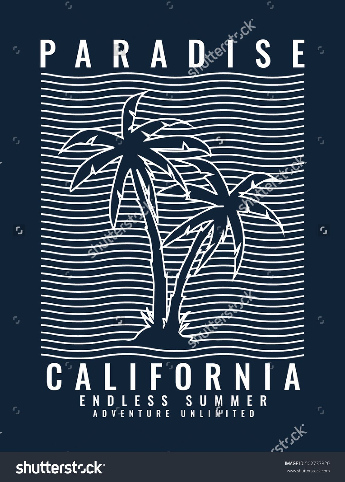 California Typography For T Shirt Print Vector Illustration Tees