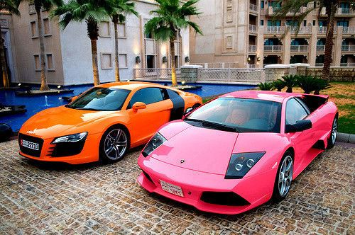 pink audi and lambo cars pink car car photos car images image of cars photo of cars car picture car pictures car photo audi pink audi pink lamborghini audi