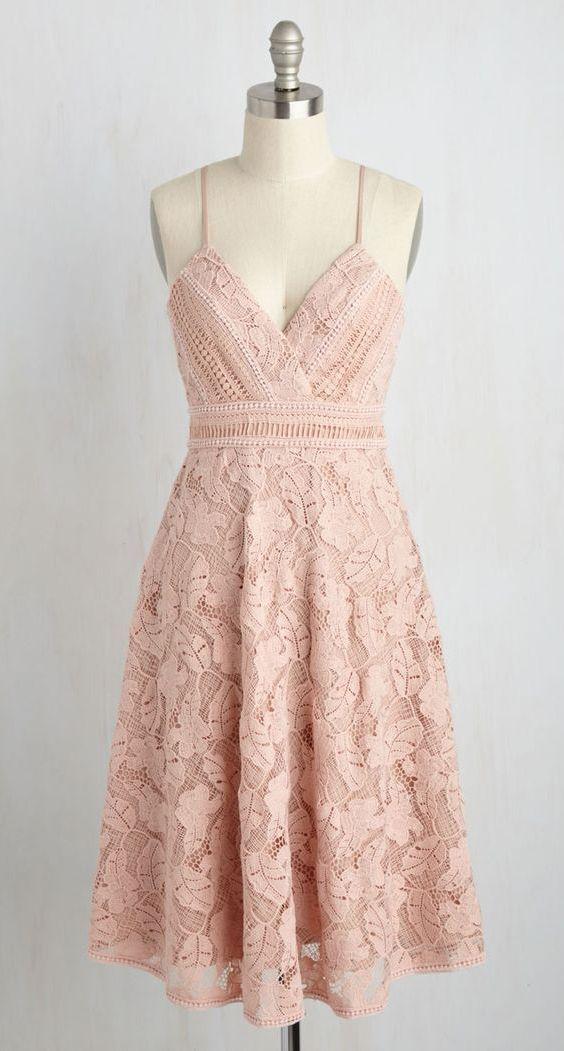 einfache Heimkehrkleider, knielange Champagner-Ballkleider, kurzes Kleid #shortslace