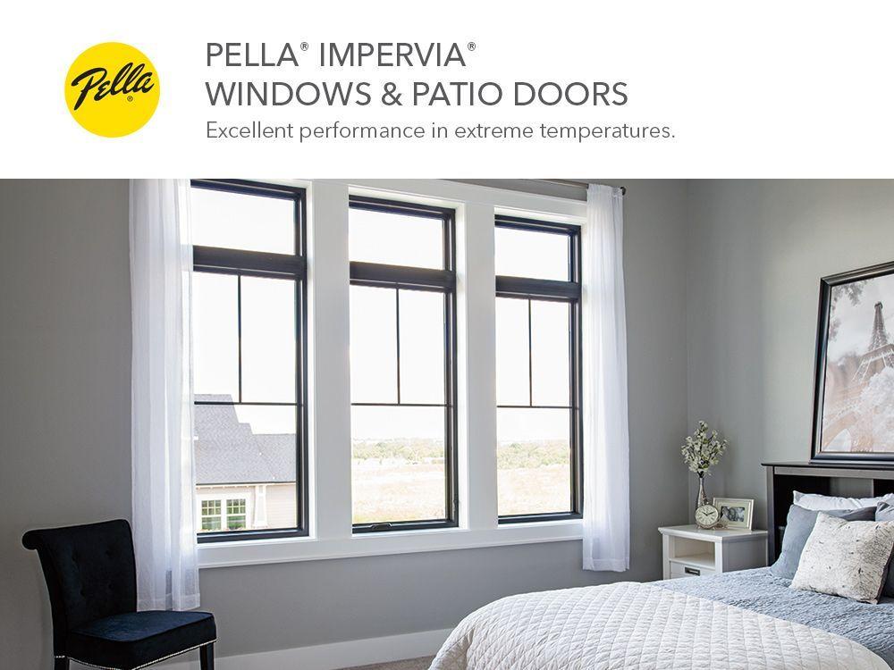 Pella Impervia Fibergl Replacement Black Exterior Single Hung