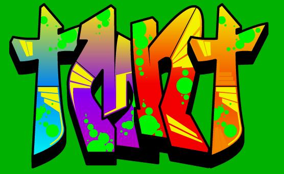 Mutant ninja turtle graffiti with
