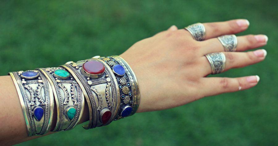 Free Shipping 10 Ethnic Banjara Gypsy Kuchi Collectable Handmade Old Hand Cuff Bangles
