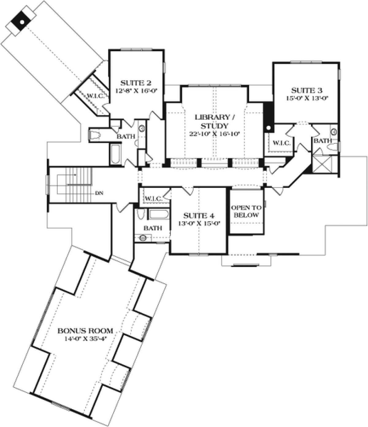 House Plan 3323 00638 European Plan 4 816 Square Feet 4 Bedrooms 5 Bathrooms House Plans New House Plans French Country House Plans