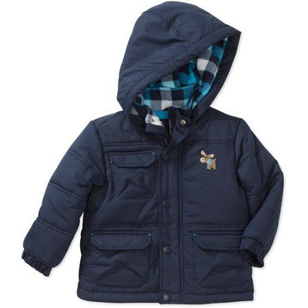 2449d374b081 Child of Mine by Carters Newborn Boys  Plaid Hooded Jacket