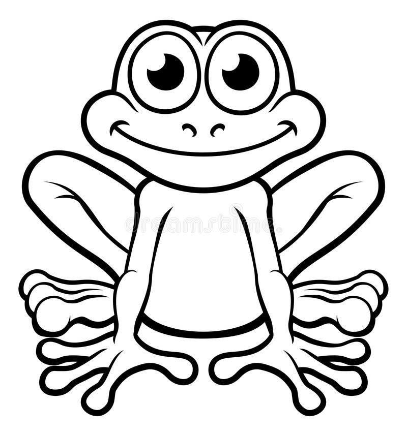 Frog Cartoon Character Stock Vector Illustration Of Clip 95185715 Frog Coloring Pages Frog Outline Cute Frogs