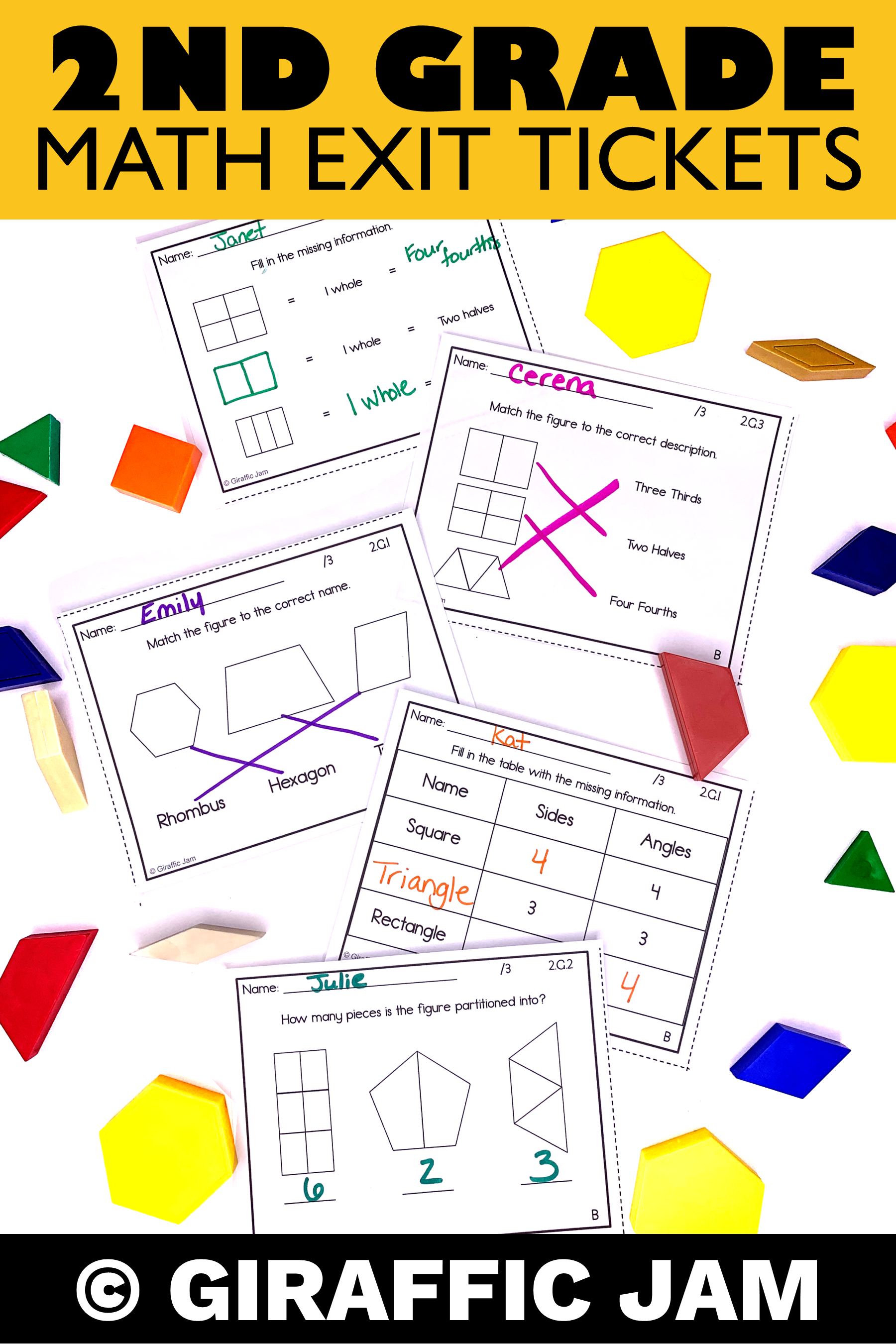 2nd Grade Geometry Exit Tickets 2nd Grade Geometry Assessment Math Exit Tickets 2nd Grade Math Math Exit Slips [ 2700 x 1800 Pixel ]