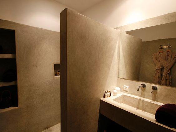 Salle de Bain Tadelakt: | Salle de bains | Salle de Bain, Décoration ...