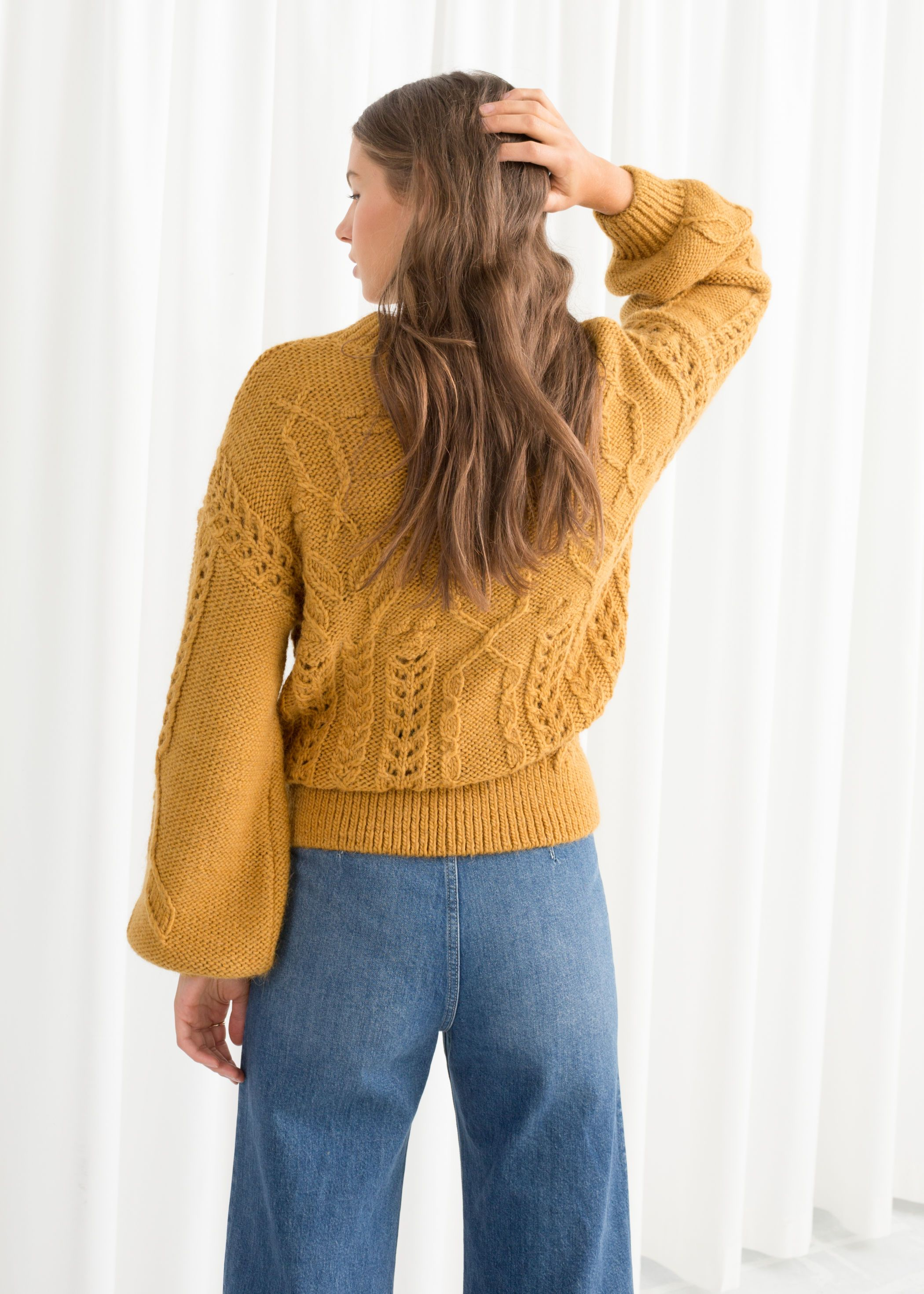 63e9b7d9241 Floral Cable Knit Sweater | Knit | Sweaters, Cable knit sweaters ...