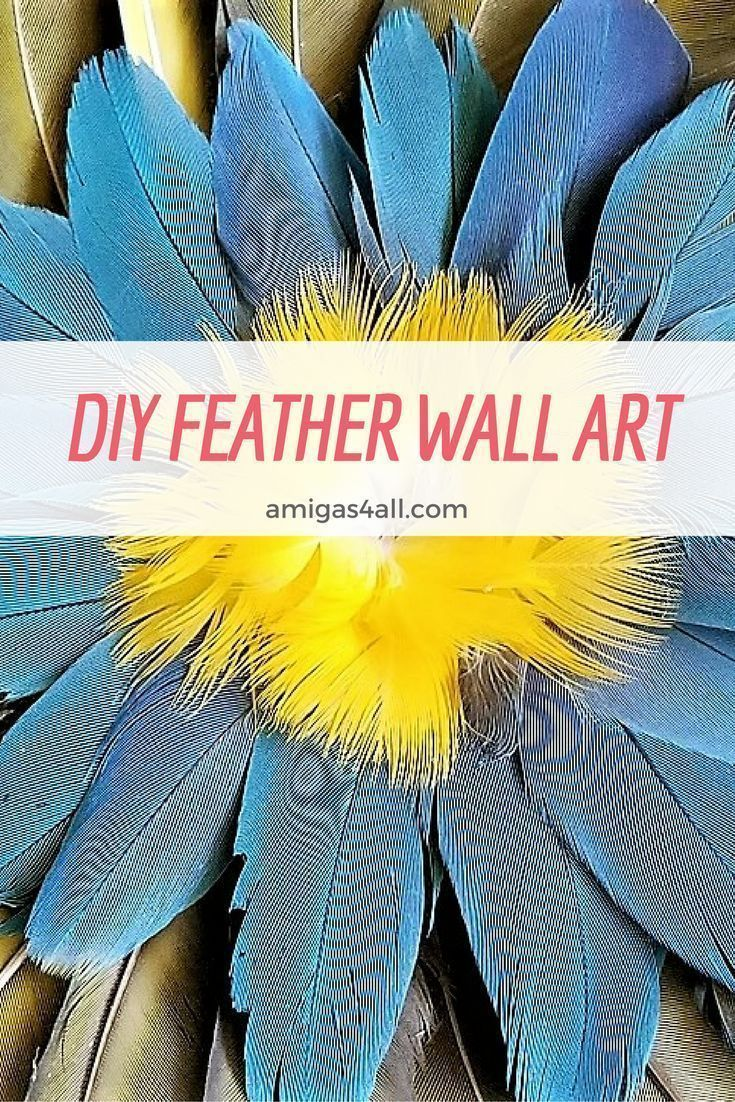 How to Make a Colorful Summer DIY Feather Wall Art | Feather wall ...