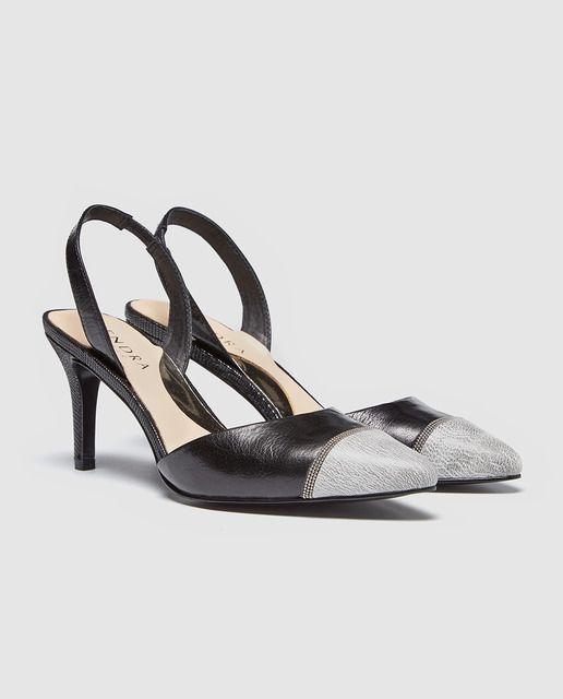 3d77703fbcb Zapatos de salón de mujer Zendra Basic de piel en color negro ...