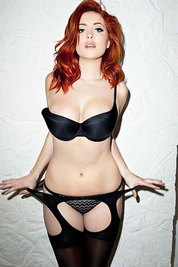 Hot skinny redhead