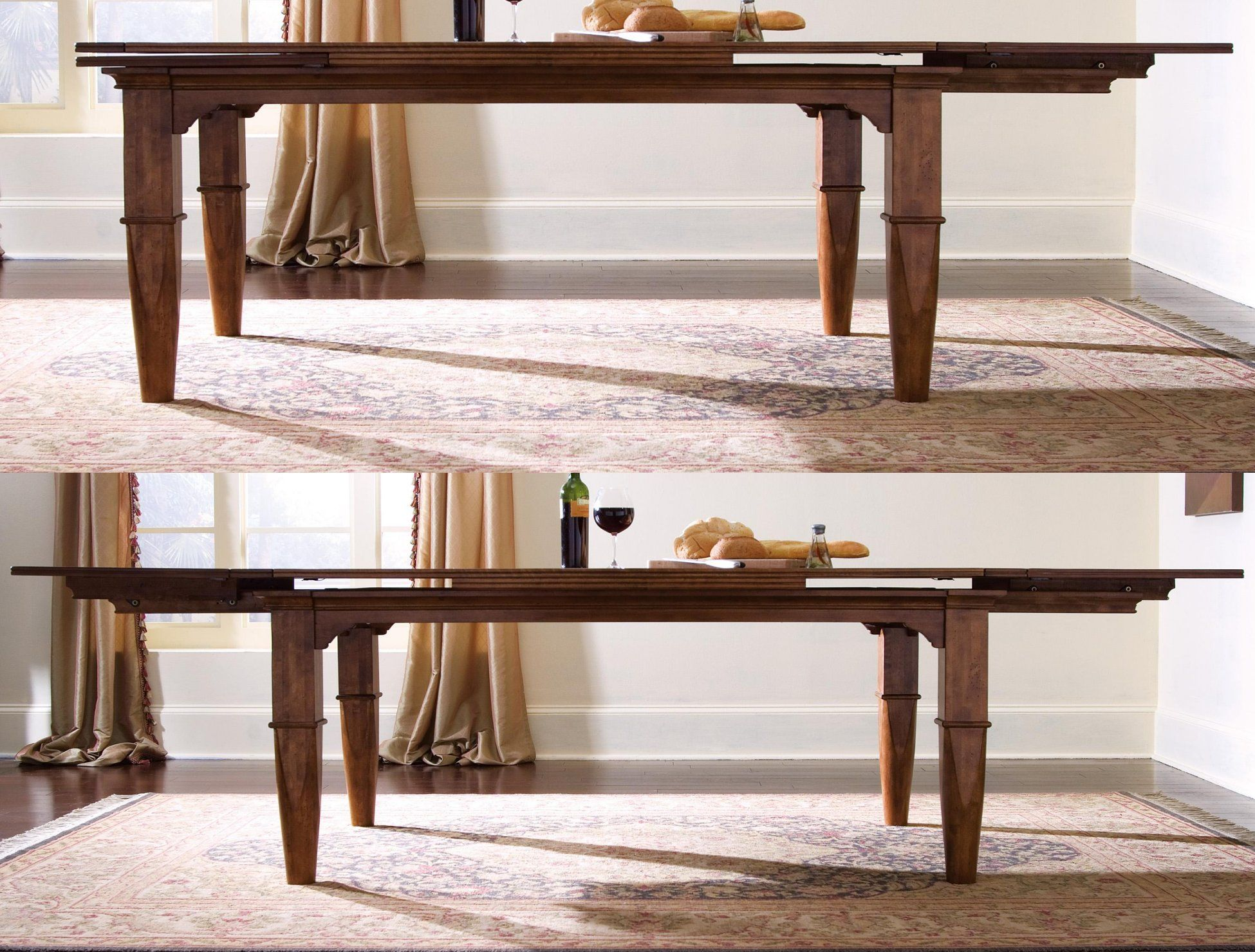 Kincaid Tuscano Refectory Table Includes Two Self Storing 20