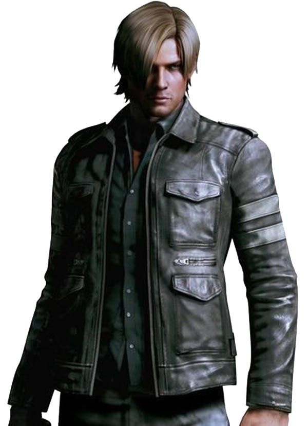 Resident Evil 6 Leon Kennedy Black Leather Jacket stylish and dashing. The Leon  Kennedy in action game,Buy Resident Evil 6 leather jacket military soldiers.