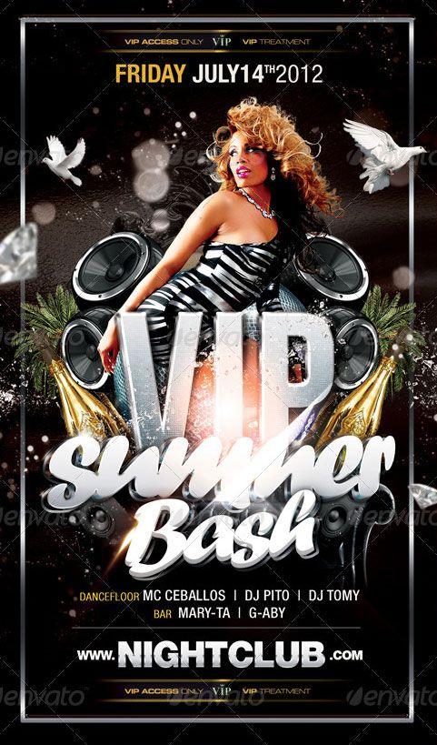 Vip Summer Bash Party Club Flyer Template  HttpWwwFfflyerCom