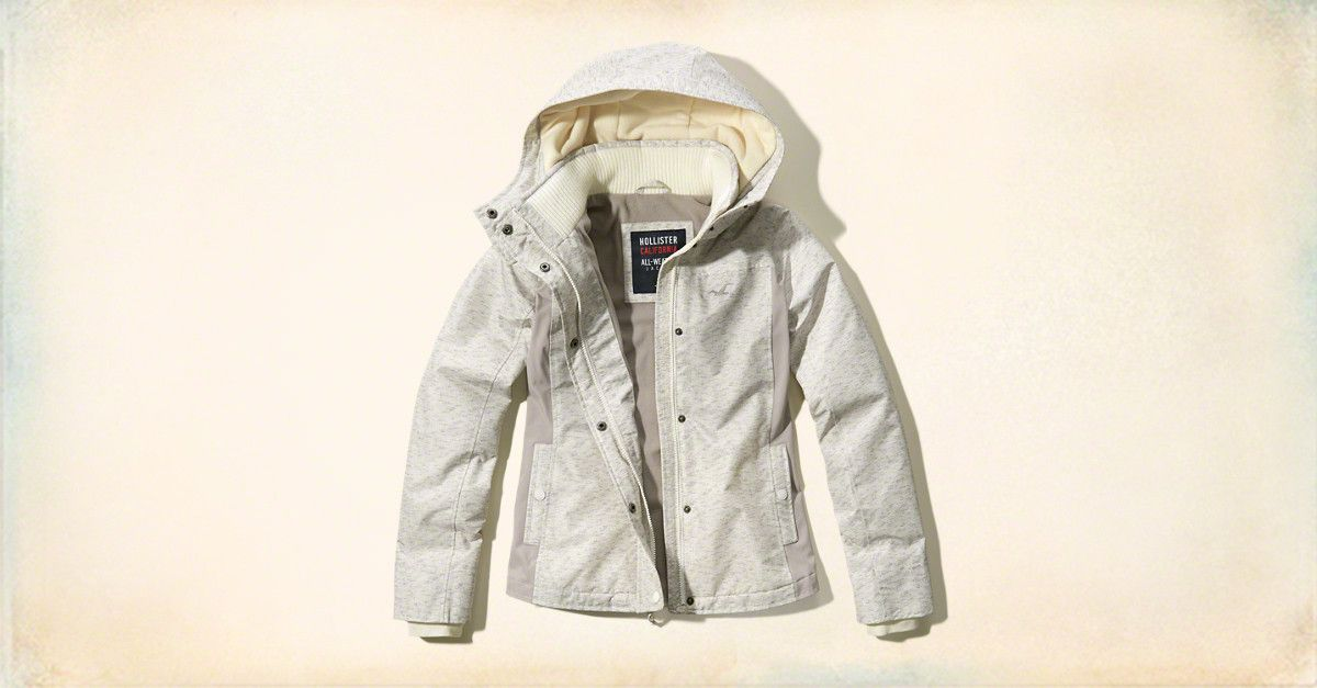 Girls All-Weather Textured Nylon Jacket | Girls Jackets & Outerwear | HollisterCo.com