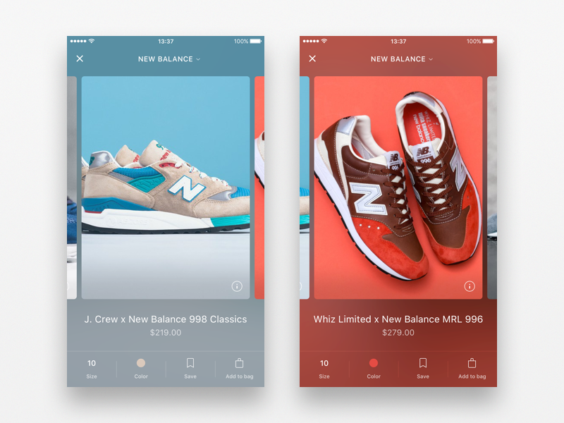 Shopping app Detail view Mobile app design, App, App