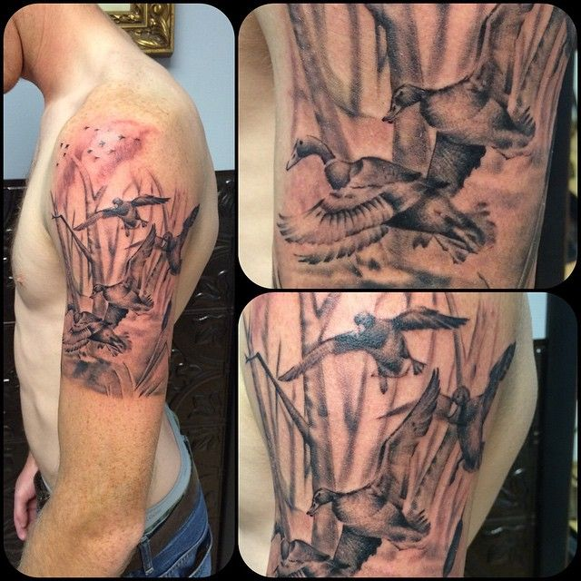 Nice Top 100 Hunting Tattoos Http 4develop Com Ua Top 100 Hunting Tattoos Check More At Http With Images Hunting Tattoos Duck Tattoos Duck Hunting Tattoos