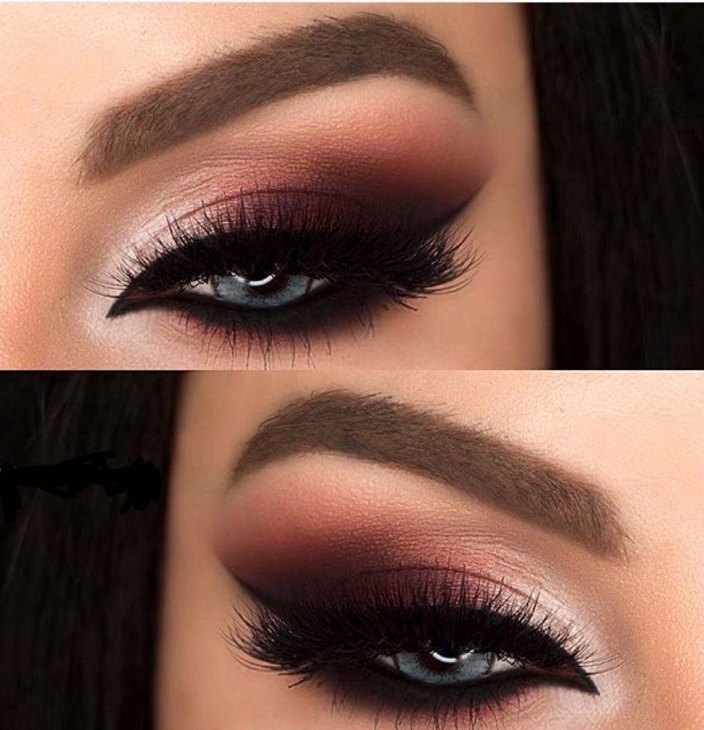 Maquillaje De Noche Night Makeup Burgundy Makeup Makeup