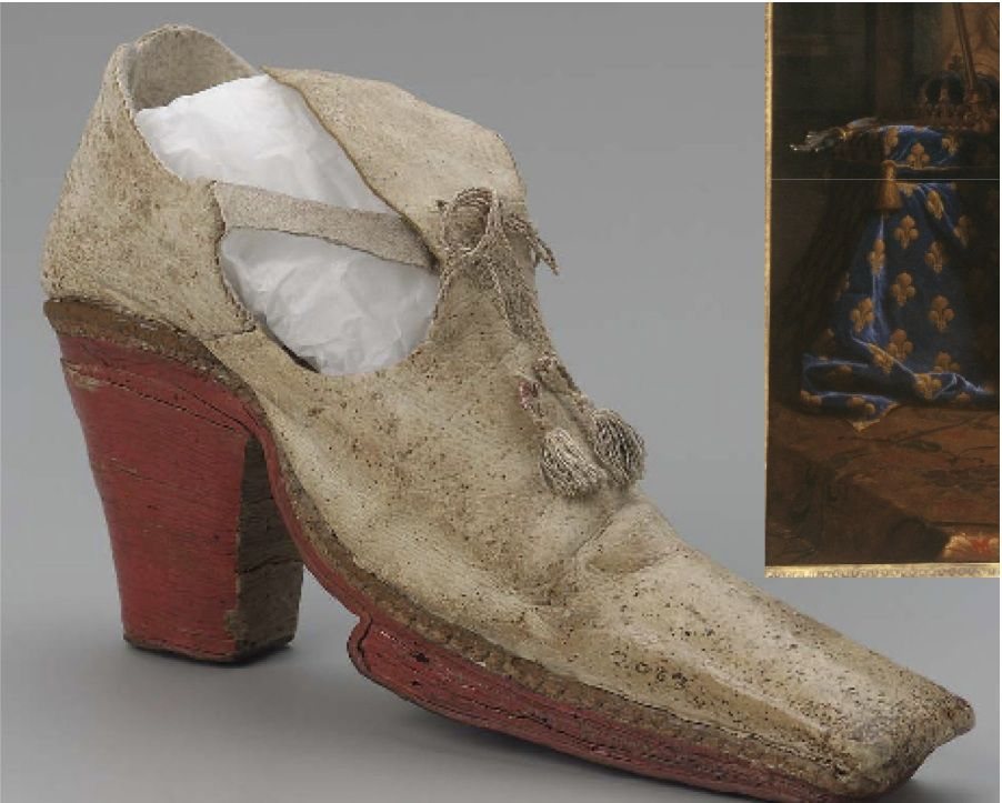 Shoes Style During The Reign Of Louis Xiv Red Heels Were