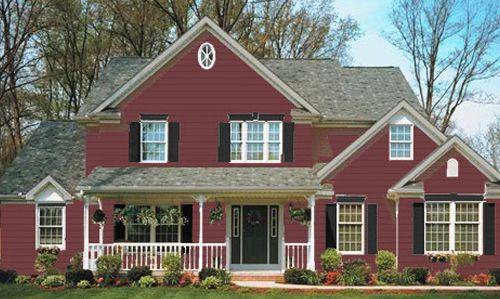 Image Detail For Siding Colonial Red Kay07 Trim Flagstone Kay48 Accent Black Kay13 Vinyl Siding Colors House Exterior Siding Colors For Houses