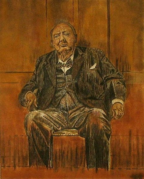 Graham Sutherland Winston Churchill : graham, sutherland, winston, churchill, Graham, Sutherland's, Contraversial, Portrait, Winston, Churchill, Painting,, Churchill,, Painting