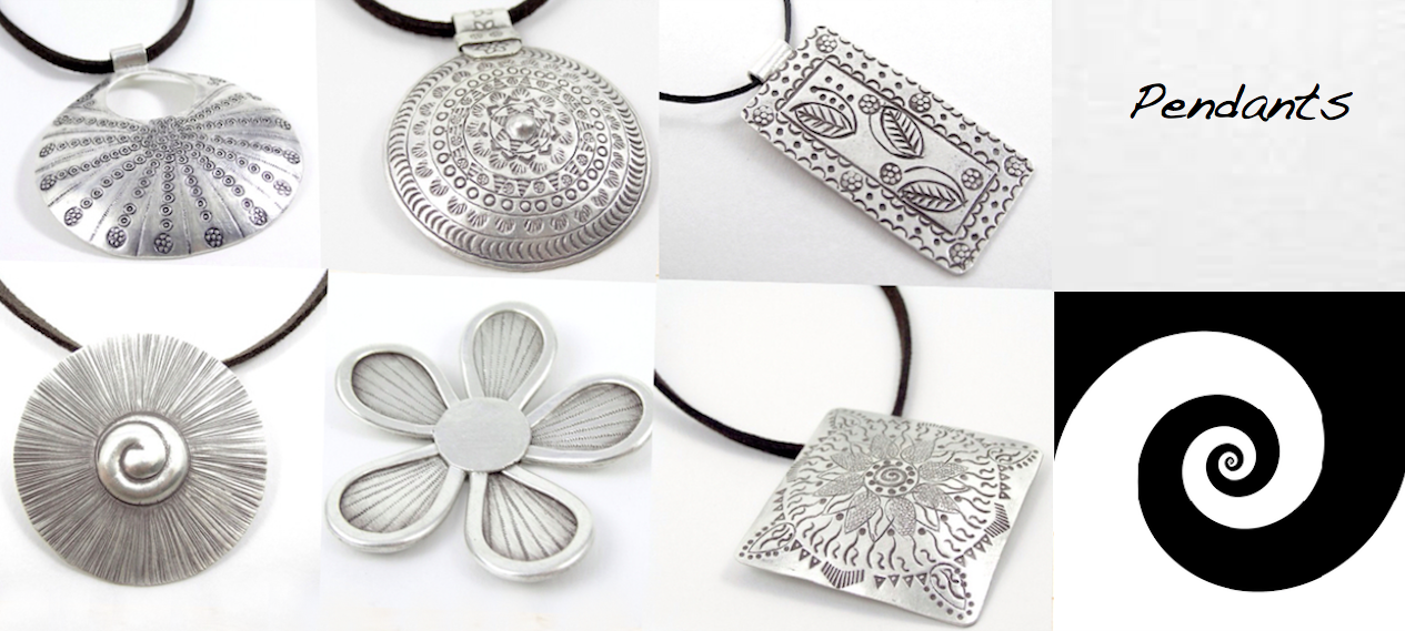 Our Handcrafted Silver collection: pendants, necklace, Tribal, Boho, Handcrafted