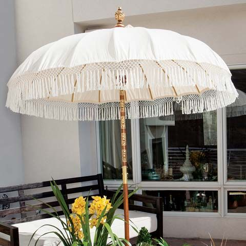 Delightful Asha Fringed Patio Umbrella