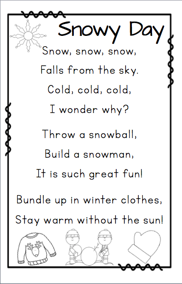 Poems About Weather And Seasons English Poems For Kids Poetry For Kids Kids Poems