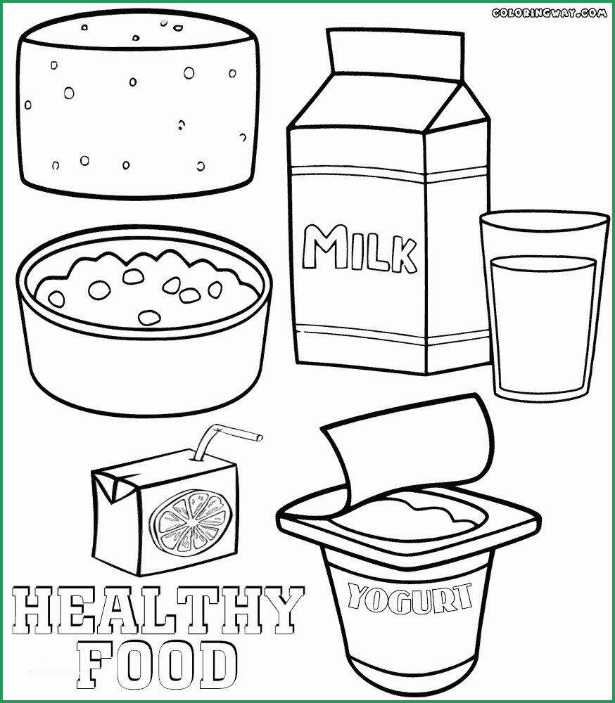 Healthy Food Coloring Pages Healthy Food Coloring Pages Admirable