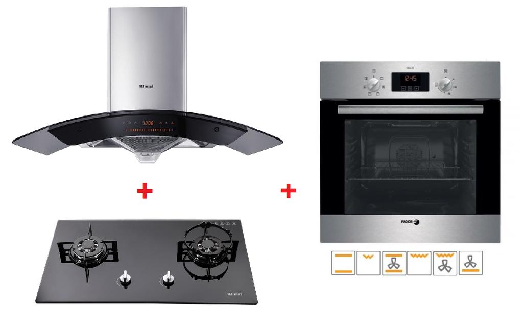 Rinnai Cooker Hood Hob Fagor Oven Packages B Cooker Hoods Kitchen Appliances Appliances Online