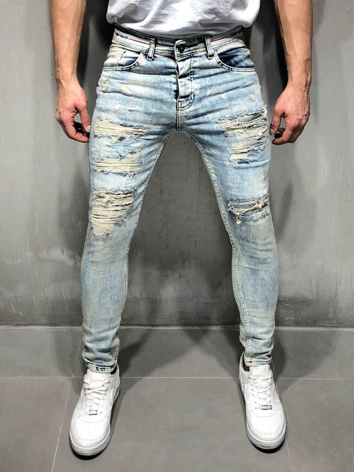 03680989 Bleach Wash Jeans Random Rips . #mensfashion #mensweardaily #mensstyle