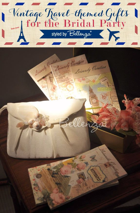 Vintage Travel-themed Gift Ideas for the Bridal Party!